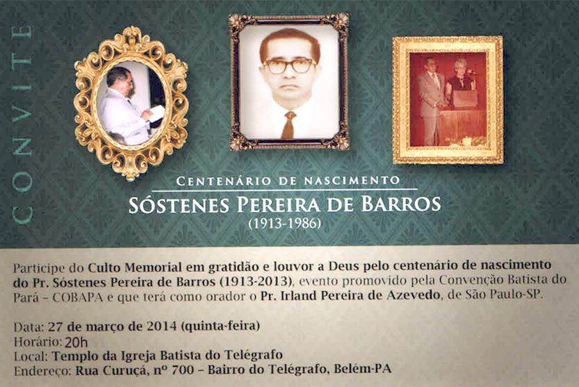 Pr. Sóstenes Pereira de Barros