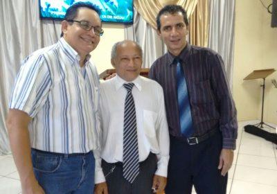 Pr. Ruy Gonçalves (Dir. Executivo da Cobapa) e Pr. Helcias Coelho (Pres. da OPBB-PA) na Posse do Pr. Rubens Lima como Coordenador da Regional Tocantina