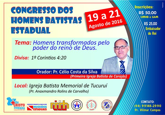 CARTAZ DO CONGRESSO DE HOMENS BATISTAS DO PARÁ