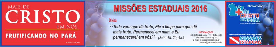 Banner da Campanha de Missões Estaduais 2016