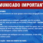 COMUNICADO URGENTE -26-07-2016