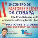 11ª Encontro de Pastores e líderes da Cobapa - Inscrição on-line