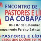Foi abençoador o 11º Encontro de Pastores e Líderes